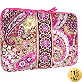 "Vera Bradley 17"" Laptop Sleeve in Very Berry Paisley"