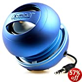 X-Mini II XAM4-BL Portable Capsule Speaker, Mono, Blue