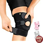Bracoo Breathable Neoprene Knee Support, One Size, Black,Manufactured by: Yasco