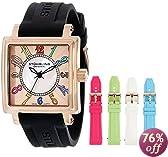 Stuhrling Original Women's 149L3.124614 Vogue Ozzie Dream Swiss Quartz Mother-Of-Pearl Black Strap Set Watch