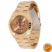 Guess u13623L1 rose gold dial stainless steel bracelet women watch NEW