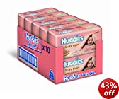 Huggies Soft Skin Baby Wipes - 10 x Packs of 64 (640 Wipes)