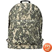 "18"" Green Army ACU Digital Camouflage Water-resistant School Backpack"