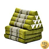 Triangle Thai Cushion With Three-Fold Mattress - 67x20 inch (green)