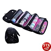 """4 COMPARTMENT """"ROLL N' GO"""" COSMETIC/TOILETRY/JEWELRY BAG"""