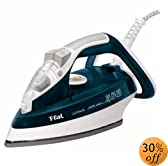 T-fal FV4476 Ultraglide Easycord Auto Shut off Steam Iron with Ceramic Scratch Resistant Non-Stick Soleplate Anti-Drip and Scale System, 1700-Watt, Teal