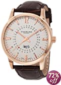 Stuhrling Original Men's 345.3345K2 Classic Ascot Jupiter Swiss Quartz Day and Date Rose Tone Watch