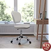 Flash Furniture H-2376-F-WHT-GG Mid-Back White Mesh Task Chair with Chrome Base
