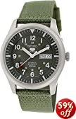 Seiko 5 Sport Automatic Khaki Green Canvas Mens Watch SNZG09