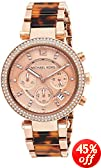 Michael Kors Women's MK5538 Parker Tortoise & Rose Gold-Tone Watch