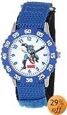 "Marvel Kids' W000134 ""Time Teacher"" Captain America Stainless Steel Watch"