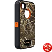 OtterBox Defender Series Case and Holster for iPhone 4/4S  - Retail Packaging - Realtree Camo - Max 4HD Orange