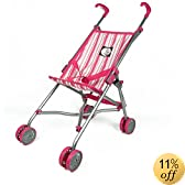 The New York Doll Collection Umbrella Doll Stroller, Pink