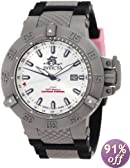 Invicta Men's 1589 Subaqua Noma III Silver Dial Black Polyurethane Watch