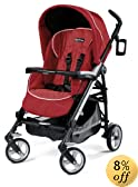 Peg Perego Pliko Four Stroller, Geranium (Discontinued by Manufacturer)