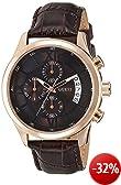 Guess Herren-Armbanduhr XL Capitol Chronograph Quarz Leder W14052G2