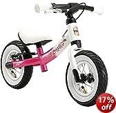 bike*star 25.4cm (10 Inch) Kids Child Girls Learner Balance Running Bike - Sport - Colour Pink & White