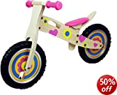 Young Lady Kids / Boys / Girls Wooden Balance Bike Scooter First Ride Training Learning Bicycle Cycle