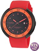 red line Men's 50039-BB-01-RD Driver Black Dial Red Silicone Watch
