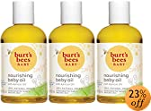 Burt's Bees Baby Bee 100% Natural Nourishing Baby Oil, 4 Fluid Ounce Bottles (Pack of 3)