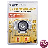 Water & Shock Resistant Super Bright 9 LED Headlamp (VE-382-SLV)