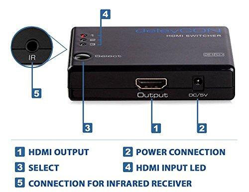 3 Port HDMI Switch Verteiler automatisch
