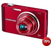 Samsung ST77 Digitalkamera (16 Megapixel, 5-fach opt. Zoom, 7,6 cm (3 Zoll) Display, bildstabilisiert, nur micro-SD) rot