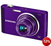 Samsung ST77 Digitalkamera (16 Megapixel, 5-fach opt. Zoom, 7,6 cm (3 Zoll) Display, bildstabilisiert, nur micro-SD) violett