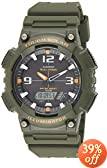 Casio Men's AQS810W-3AVCF Solar Watch with Green Band
