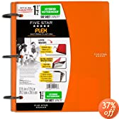 Five Star Flex Hybrid NoteBinder, 1.5-Inch, Orange (72871)