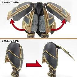 鎧の腰部分可動することで様々な表現が可能に!