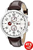 Tommy Hilfiger Men's 1790858 Stainless Steel Watch with Brown Leather Band