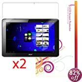 rooCASE 2-Pack Anti-Glare Screen Protector Film for Acer Iconia A510 A700 10.1-Inch Android Tablet (NOT Compatible with A500) - Lifetime Replacement Warranty