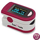 Acc U Rate® CMS 50D Pulse Oximeter with Silicon Cover, Neck/Wrist cord and Batteries (Blue)