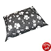Linens Limited Paws Flat Dog Pet Bed, Black, Extra Large