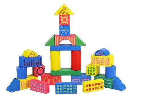 长方体圆柱球形积木搭房子
