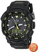 Casio Men's PRG-550-1A9 Pro Trek Tough Solar Black Dial  Watch