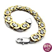 KONOV Jewelry Stainless Steel Men's Bracelet, 8.6 Inches