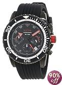 red line Men's RL-50034-BB-01 Piston Chronograph Black Dial Watch