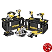 DeWalt 18V XR Lithium-Ion Cordless Package with 3 x 4Ah Batteries (6 Pieces)