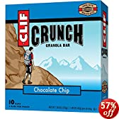 CLIF CRUNCH - Granola Bar - Chocolate Chip - (1.48 oz, 5 Two-Bar Pouches)
