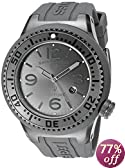 Swiss Legend Men's 21818P-GM-018 Neptune Charcoal Grey Dial Grey Silicone Watch