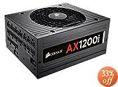 Corsair Professional Series  AX 1200 Watt Digital ATX/EPS Modular 80 PLUS Platinum (AX1200i)