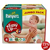Pampers Easy Up Size 4 (18-33 lbs/8-15 kg) Jumbo Pack of 56 Training Pants