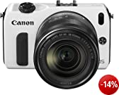 Canon EOS M kompakte Systemkamera (18 Megapixel, 7,6 cm (3 Zoll) Display, Full HD, Touch-Display) Kit inkl. EF-M 18-55mm 1:3,5-5,6 IS STM und Speedlite 90EX wei�