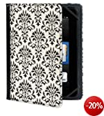Verso Trends Versailles Damast-H�lle f�r Kindle Fire HD 7 Schwarz/Wei� (nur geeignet f�r Kindle Fire HD 7 [Vorg�ngermodell])