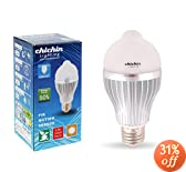 ChiChinLighting LED Motion Sensor Light Bulb 6 Watts Warm White PIR LED Light G60 E26 E27 Base