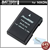 Replacement EN-EL14a, EN-EL14 Ultra High Capacity Li-ion Battery For Nikon D5500, D5300, D3300, D5100, D5200, D3100, Nikon Df and D3200, P7100, P7700 Digital Camera - Fully Decoded! (Nikon EN-EL14a Replacement) + ButterflyPhoto MicroFiber Cleaning Cloth