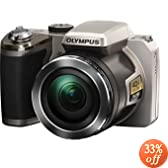 Olympus SP-820UZ iHS Digital Camera (Silver) (Old Model)