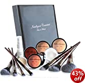 MEDIUM SKIN Mineral Makeup Foundation (XL) 14 piece Set Bare Natural Minerals, Full Cover by Intelligent Cosmetics®
